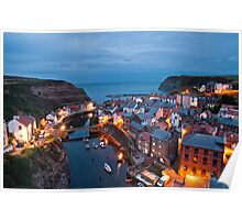 The Blue Hour in Staithes Poster