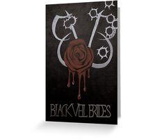 Black Veil Brides Fanart Greeting Card
