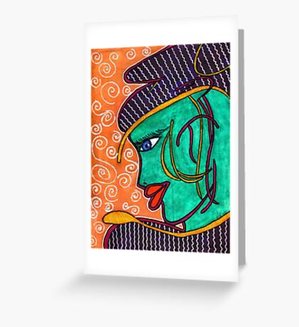Turquoise Greeting Card