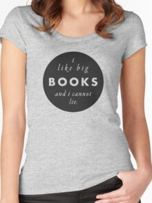Big Books Love Women's Fitted Scoop T-Shirt