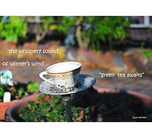 Green Tea Awaits Photographic Print