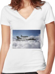 Cold War Relics Women's Fitted V-Neck T-Shirt