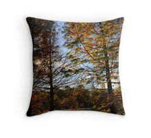 Glowing Pines Throw Pillow