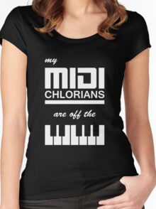 My Midi Chlorians Are Off The Scale Women's Fitted Scoop T-Shirt