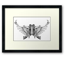 guns and wings Framed Print