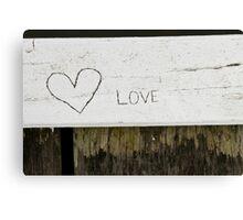 Heart -  love  Canvas Print