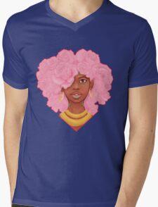 Rose Heart Mens V-Neck T-Shirt