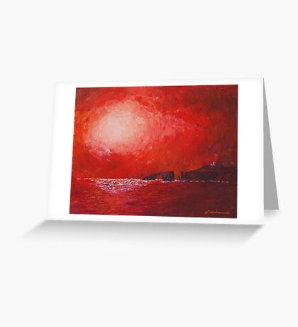 islands ruby red Greeting Card
