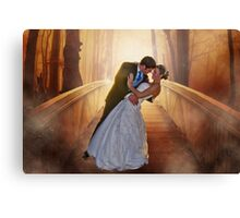 Wedding Bride and Groom Canvas Print