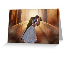 Wedding Bride and Groom Greeting Card