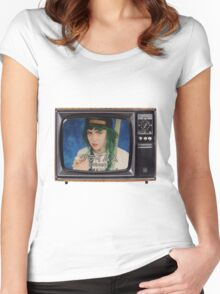 Grimey Television Women's Fitted Scoop T-Shirt