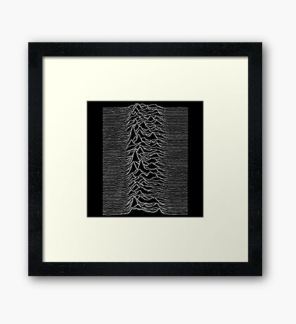 Music band waves - Black&White Framed Print