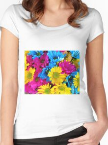 Painted Daisy Women's Fitted Scoop T-Shirt