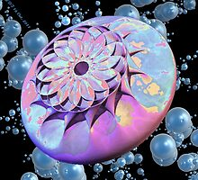 Sand Dollar on Bubbles by Gary Timothy