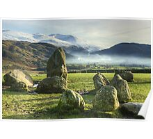 Helvellyn From Castlerigg Stone Circle Poster