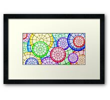 Stained Glass Circles  Framed Print