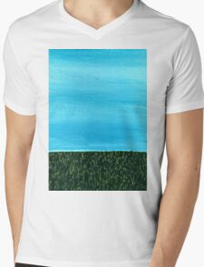 It's a beautiful day ~ Sky and Grass Mens V-Neck T-Shirt