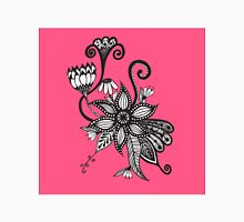 Bright Pink and Black & White Tangle Flowers Classic T-Shirt