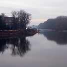 Vah River - Piestany, Slovakia by Marius Brecher