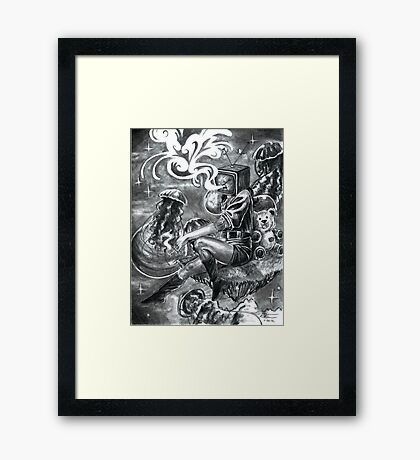 No Signal Framed Print