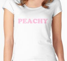 Peachy (pink) Women's Fitted Scoop T-Shirt
