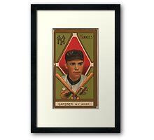 Benjamin K Edwards Collection Earl Gardner New York Yankees baseball card portrait Framed Print