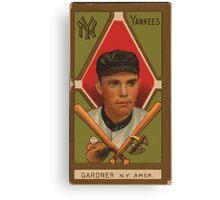 Benjamin K Edwards Collection Earl Gardner New York Yankees baseball card portrait Canvas Print