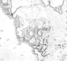 Vintage Map of Southern Florida (1856) Sticker