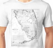 Vintage Map of Southern Florida (1856) Unisex T-Shirt