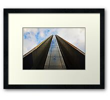 GLASS WAY TO THE TOP OF THE SKY Framed Print