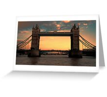 Tower Bridge @ Sunset Greeting Card
