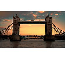 Tower Bridge @ Sunset Photographic Print