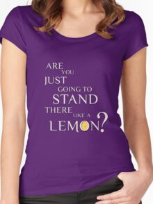 Like a lemon white. Women's Fitted Scoop T-Shirt