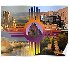 New Mexico Collage Poster