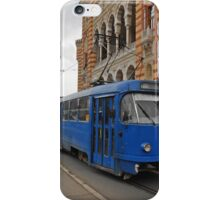 Blue tram iPhone Case/Skin