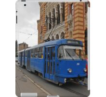 Blue tram iPad Case/Skin