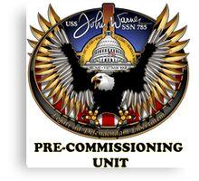 SSN-785 USS John Warner Pre-commissioning Unit Crest Canvas Print