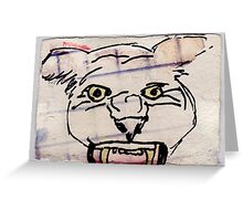 Caged Cat 1, 2007 - ink on khadi Greeting Card