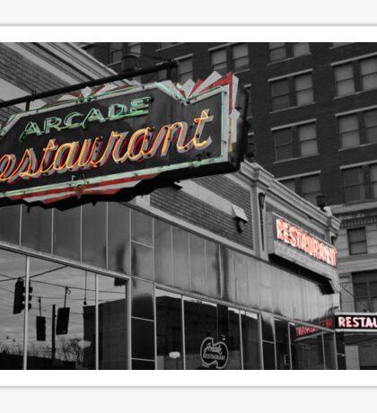 Arcade Restaurant Sticker