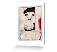 Caged Ape, 2007 - ink on khadi Greeting Card