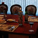 Dinner Table Ready for Guest by FrankSchmidt