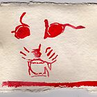 Cat 2, 2007 - ink on khadi by phoebetodd