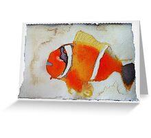 Fish, 2007 - ink on khadi Greeting Card