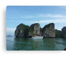 THE HONGS THAILAND ON RED BOOMER II Canvas Print