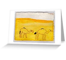 Camel Procession, 2007 - ink on khadi Greeting Card
