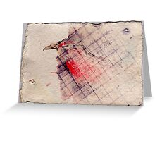 Caged Bird 2, 2007 - ink on khadi Greeting Card