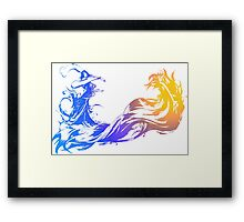 Final Fantasy 10 logo X Framed Print