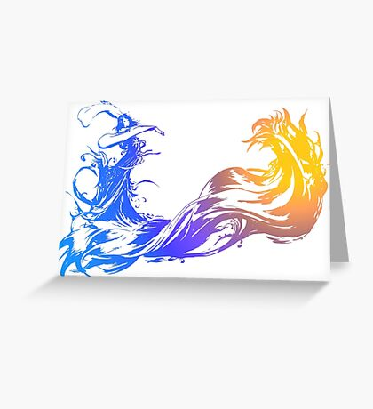 Final Fantasy 10 logo X Greeting Card