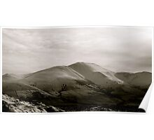 Snow on Skiddaw - Lake District National Park, Cumbria, Uk. Poster