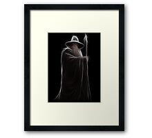 Neon Wizard Framed Print
